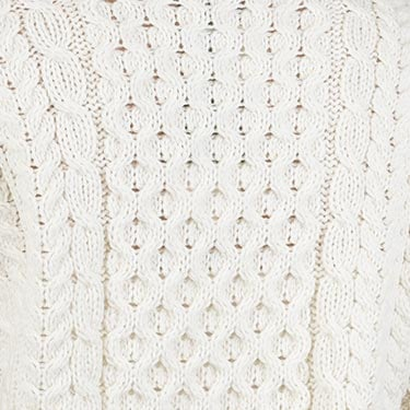 Exquisitely Crafted Aran Stitches Sweater