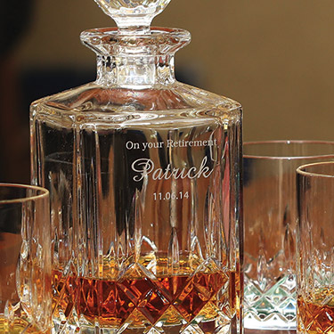 a375fa908b8 Personalized Galway Crystal Longford Whiskey Decanter Set