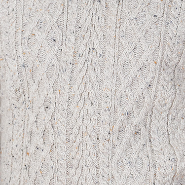 stunning crafted half zip aran sweater