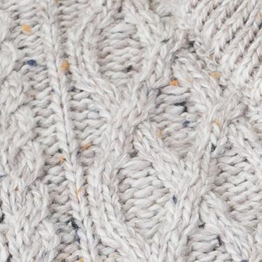 finest quality merino half zip aran sweater