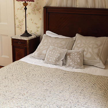 bed spread aran honeycomb throw
