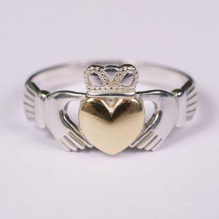 10K Gold Heart Claddagh Ring