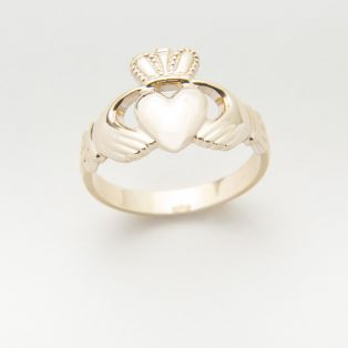 14 carat Gold Gents Claddagh Ring
