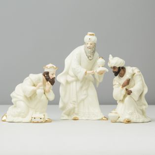 Belleek Classic Irish Christmas Three Kings Nativity Pieces