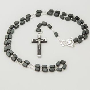 Connemara Marble Black Wooden Rosary