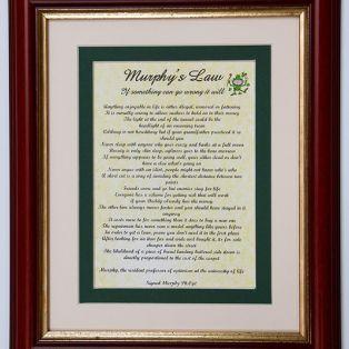 Framed Print Murphy's Law