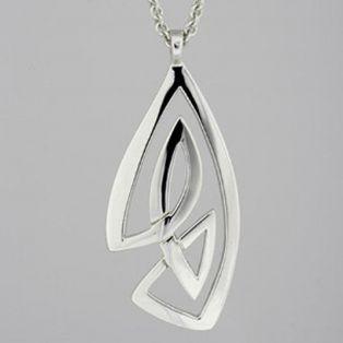 Large Sterling Silver Celtic Knot Pendant