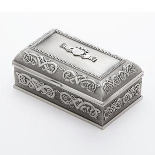 Mullingar Pewter Claddagh Jewelry Box Small