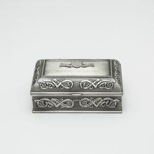 Personalized Claddagh Jewelry Box Medium