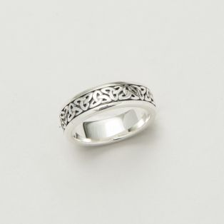Silver Ladies Trinity Knot Celtic Band