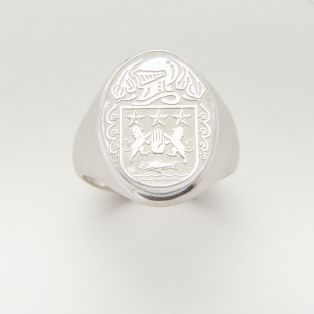 Sterling Silver Family Coat of Arms Ring