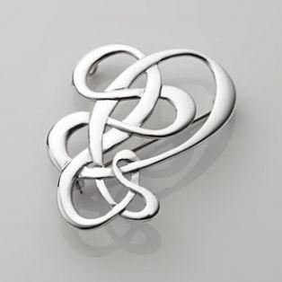 Sterling Silver Open Celtic Knot Brooch