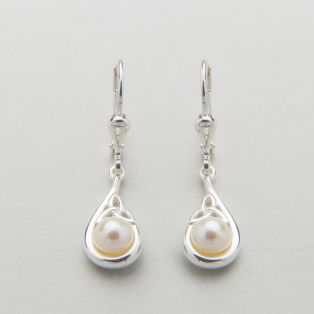 Trinity Knot Pearl Earrings