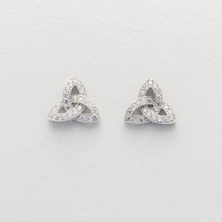 Trinity Knot Sterling Silver Celtic Earrings