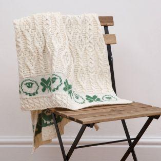 Sheep & Irish Shamrock Baby Blanket