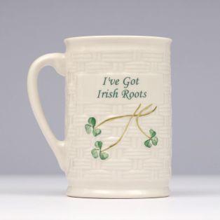 Belleek I've Got Irish Roots Mug