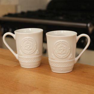 Belleek Celtic Mugs