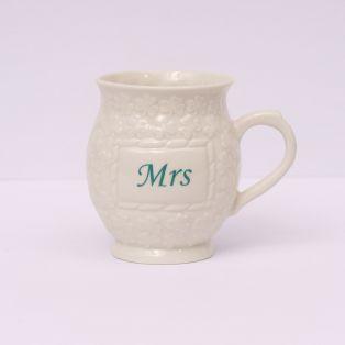 Belleek Mrs Shamrock Mugs