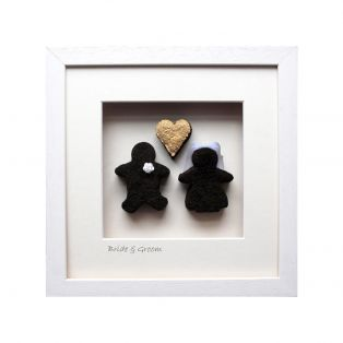 Bog Buddies Gold Heart Bride & Groom Art