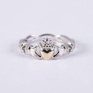 10k Gold & Silver Claddagh Ring