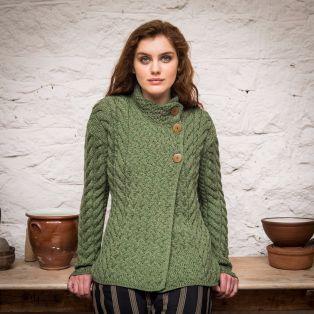 The Newgrange Aran Cardigan Sweater