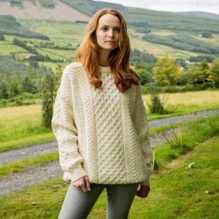 Ladies Irish Aran Sweater