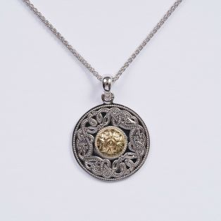 Celtic Pendant with Gold Bead