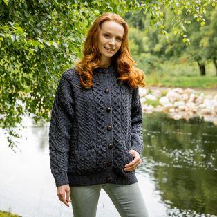 Womens Irish Aran Lumber Jacket