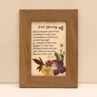 Framed Classic Irish Blessing Gift