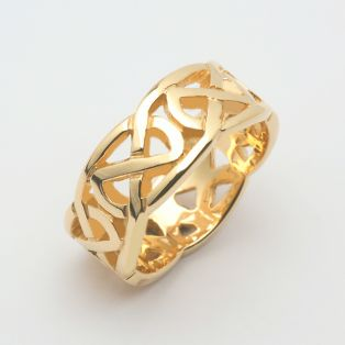 Gents 10K Sheelin Celtic Knot Ring