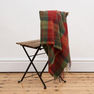 Foxford Red & Green Check Throw Blanket