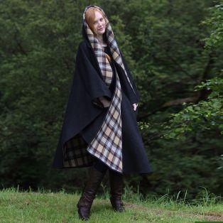 Classic Charcoal Wool Walking Cape
