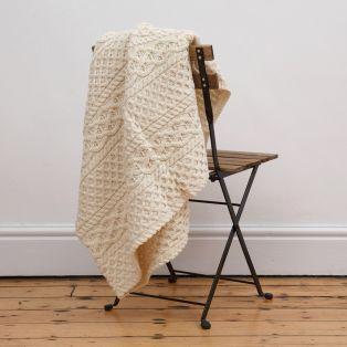 Natural Aran Blanket