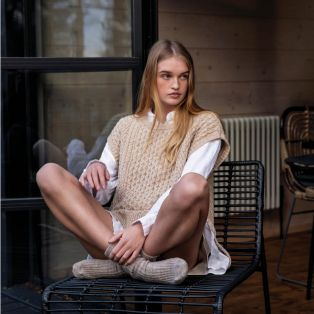 The Mulroy Sleeveless Aran Sweater
