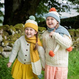 Kids Pom Pom Aran Hat