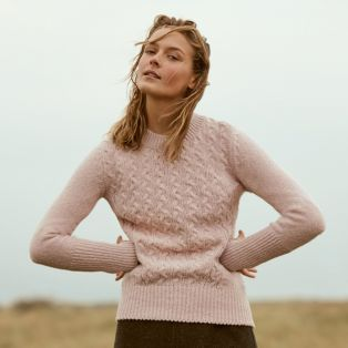 Womens Kilcrea Aran Cable Sweater
