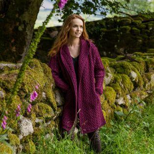 Purple Kilfane Waterfall Cardigan