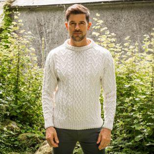 Men's Leinster Aran Sweater