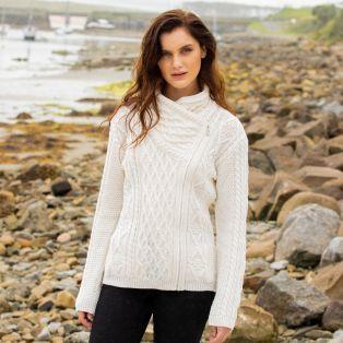 Lough Ree Aran Zipper Cardigan