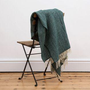 Mc Nutt Spruce Herringbone Blanket