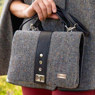 Light Gray Tweed Bag