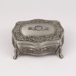 Mullingar Pewter Antique Claddagh Jewelry Box