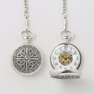 Personalized Pewter Trinity Knot Pocket Watch