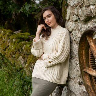 Paul Costelloe Cream Mulranny Aran Sweater