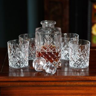 Personalized Galway Crystal Renmore Decanter& Glasses Set