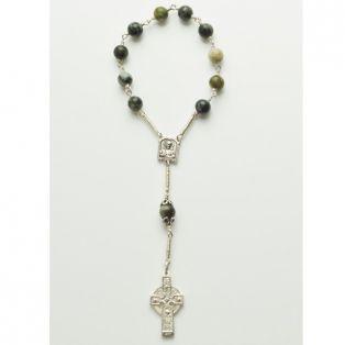 Connemara Marble 1 Decade Rosary Ahenny High Cross