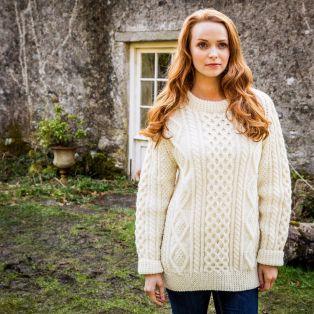 Women's Donegal Hand Knit Aran Sweater