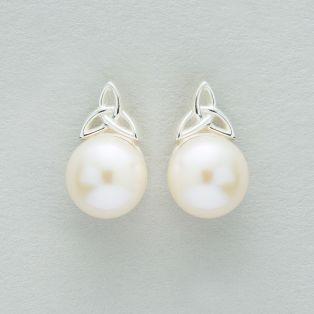 Trinity Pearl Earrings