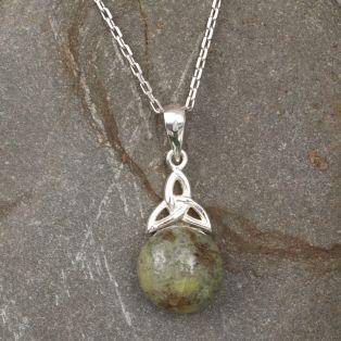 Trinity Knot Marble Pendant