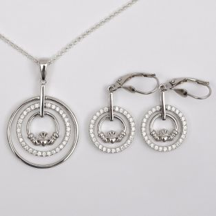 Claddagh Double Ring Jewelry Set